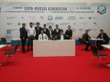 At the 2nd international industrial exhibition